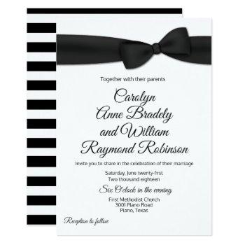 tuxedo bow tie wedding invitation