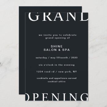ultra modern layout elegant script grand opening invitation