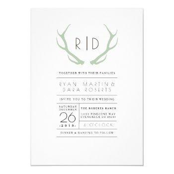 urban meets rustic | wedding invite