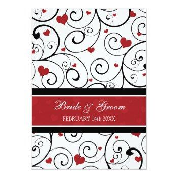 Small Valentine's Day Wedding Invitation Cards Back View