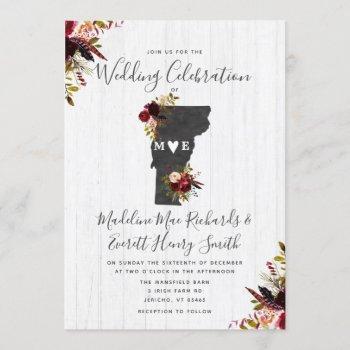 vermont state destination wedding invitation