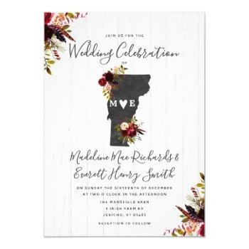 vermont state destination wedding invitation