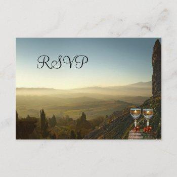 vineyard winery or wine theme rsvp card