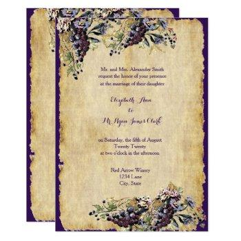 vineyard winery rustic country wedding custom invitation