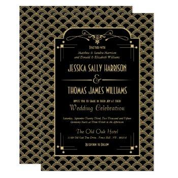 vintage 1920's art deco gatsby wedding collection invitation