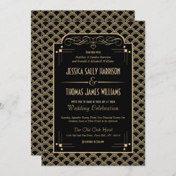 vintage 1920's art deco gatsby wedding collection invitation