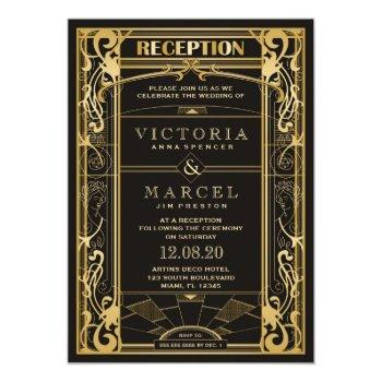 vintage art deco great gatsby reception only invitation