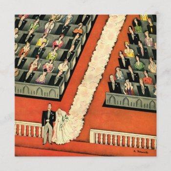 vintage art deco wedding bride groom save the date invitation