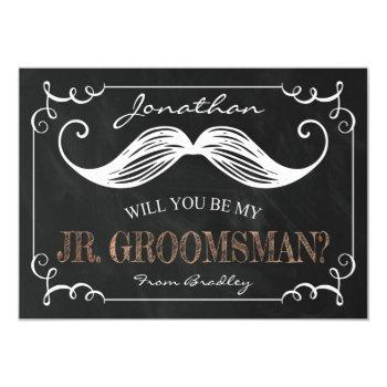 vintage be my jr. groomsman | groomsmen invitation