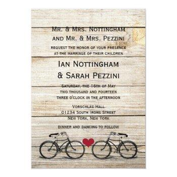 vintage bicycle wedding invitations