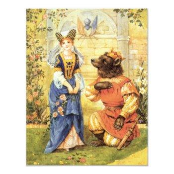 vintage fairy tale beauty and the beast invitation