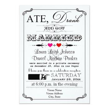 vintage poster and chalkboard wedding invitation 4