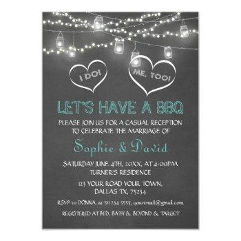 vintage string lights chalk i do bbq invitation