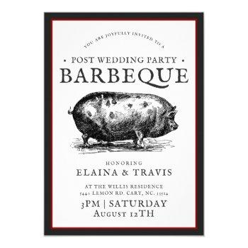 vintage style | post wedding | bbq pig roast invitation