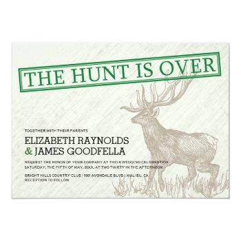 vintage the hunt is over wedding invitations