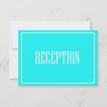 vintage typography tiffany reception card
