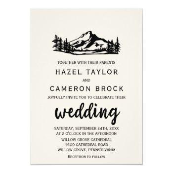 vintage wilderness wedding invitation