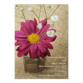 Small Virtual Streaming Wedding Daisy Apothecary Invitation Front View