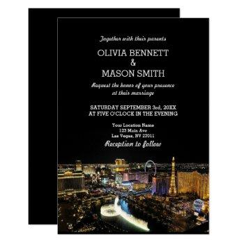 viva las vegas destination wedding invitation