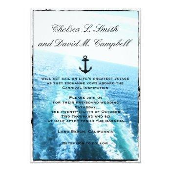 ©voyage of love/cruise ship/destination wedding invitation