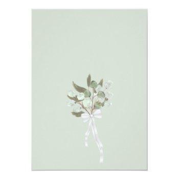 Small Watercolor Eucalyptus & Greenery Virtual Wedding Invitation Back View