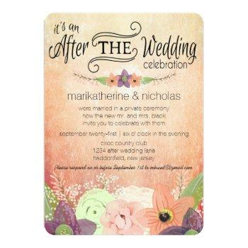 watercolor flower after wedding idpp1 invitations