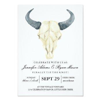 watercolor rustic rodeo   wedding invitation