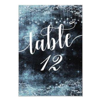 watercolor starry night table number seating