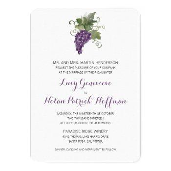 watercolor wine vineyard | wedding invitation
