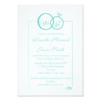 Tiffany Blue Wedding Invitations Swan Shore
