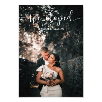 we eloped wedding announcement invitation photo