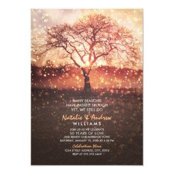 we still do 50th wedding anniversary love seasons invitation