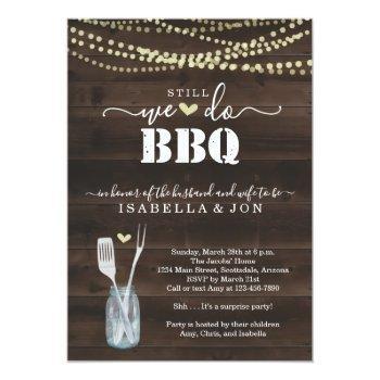 we still do bbq anniversary party invitation