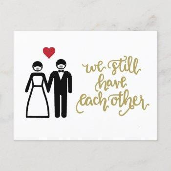 we still have each other | gold announcement postcard