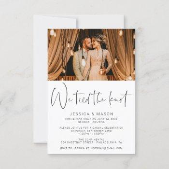 we tied the knot eloped wedding announcement
