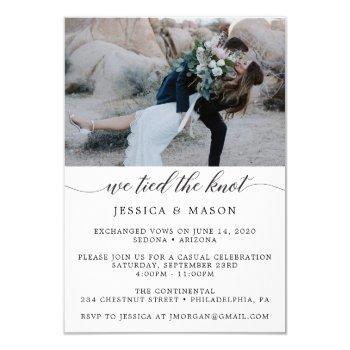 we tied the knot invite eloped announcement