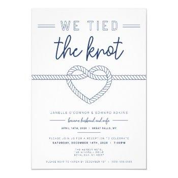we tied the knot wedding announcement and invite