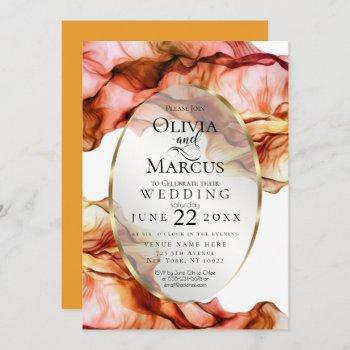 wedding   abstract watercolor autumn colors 2 invitation