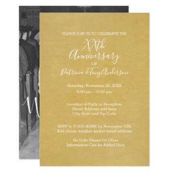 wedding anniversary & photo we still do edit color invitation