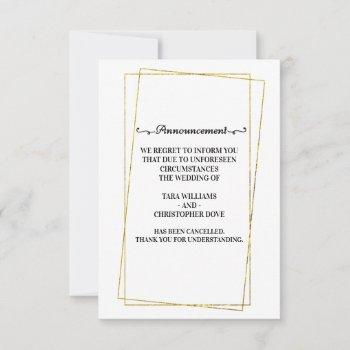 wedding cancellation announcement cards