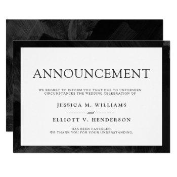 wedding cancellation message formal plain invitation