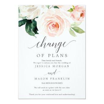 Small Wedding Cancellation - Postponed - Change Of Plans Invitation Front View