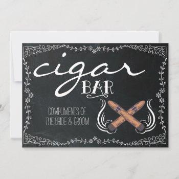 wedding chalkboard sign   cigar bar
