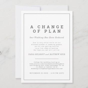 wedding change of plan uninvite now streaming save the date
