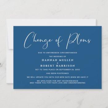 wedding change of plans postponement cancelled announcement