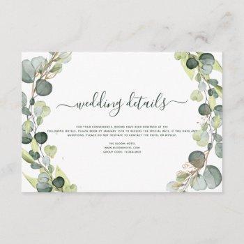 wedding details eucalyptus greenery succulent invitation