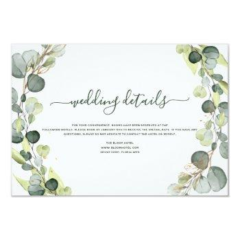 wedding details eucalyptus greenery succulent invitation