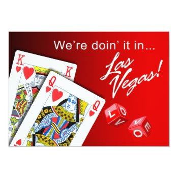 wedding - doing it in las vegas red invitation