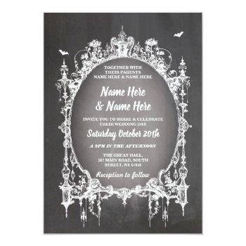 wedding halloween horror gothic frame invite