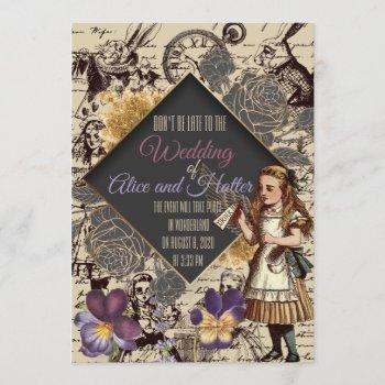 wedding in wonderland invitation
